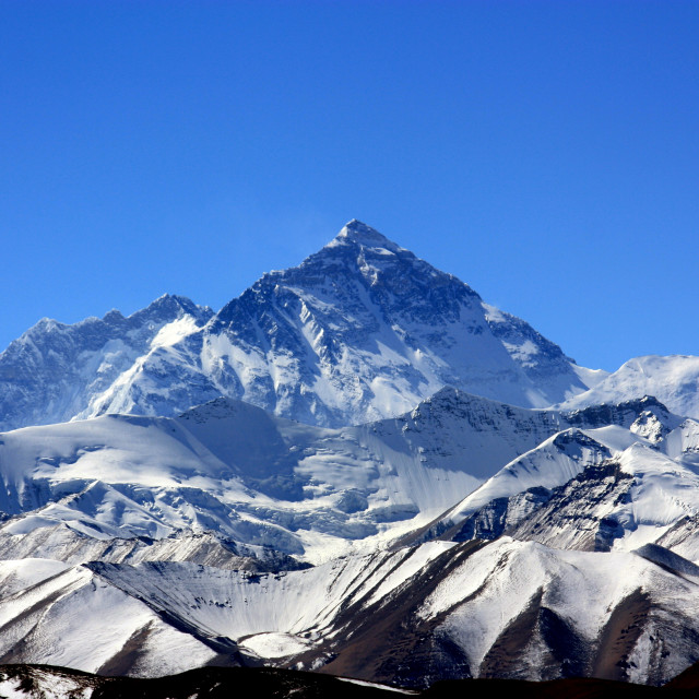 """Mount Everest, Top of the World"" stock image"