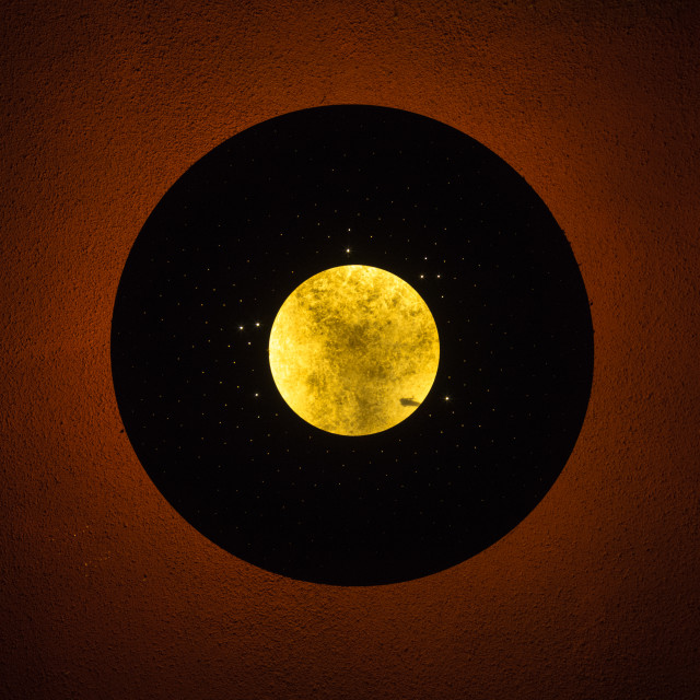 """Indoor moon"" stock image"