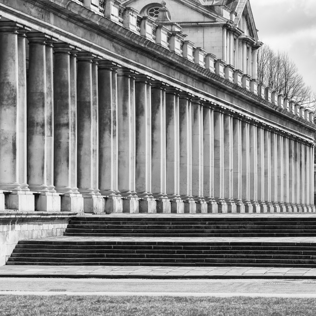 """The Old Royal Naval College, Greenwich, London"" stock image"