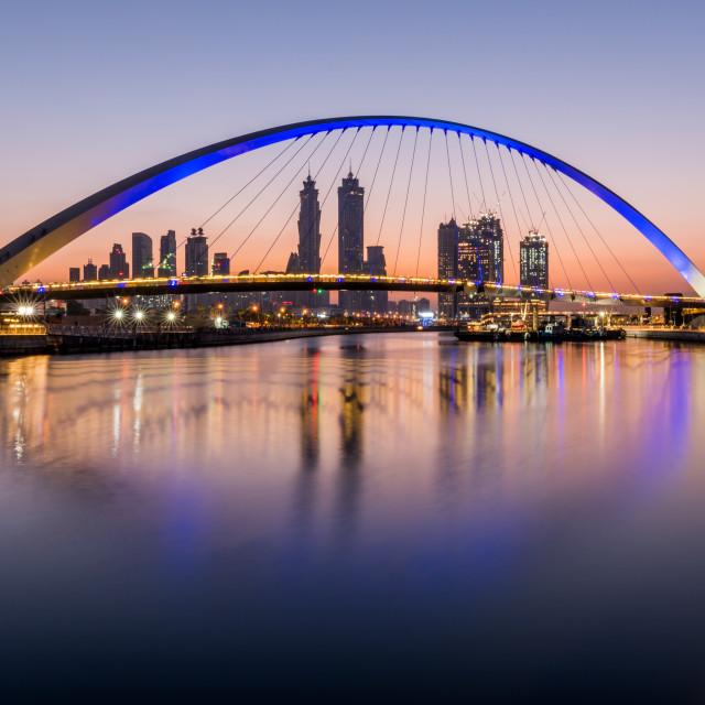 """Dubai Water Canal"" stock image"