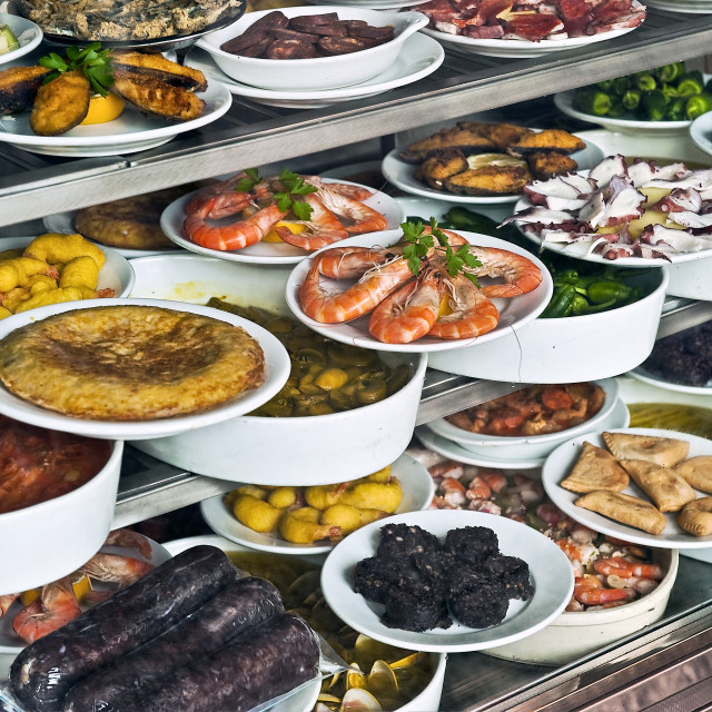"""Display of Tapas, Madrid, Spain"" stock image"