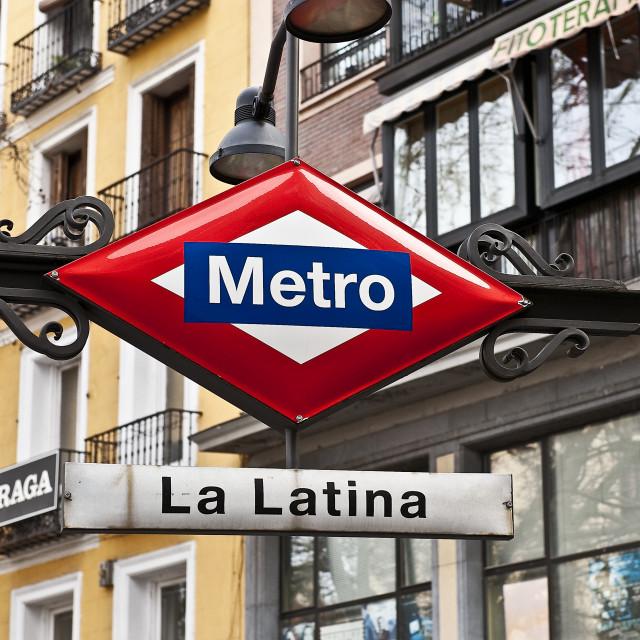 """La Latina metro stop."" stock image"