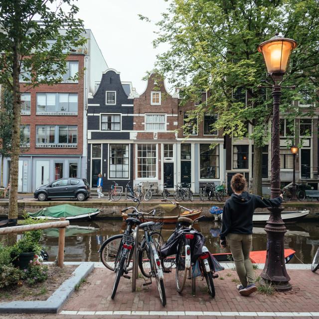 """Amsterdam street scene"" stock image"