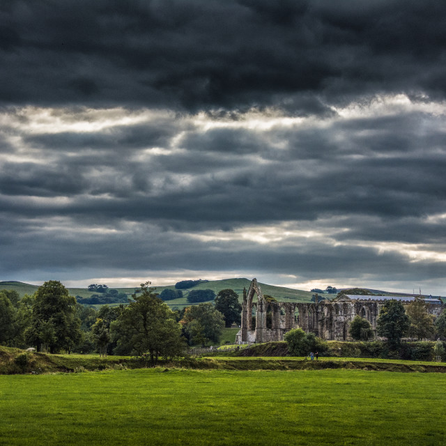 """Bolton Abbey in yorkshire, England UK"" stock image"