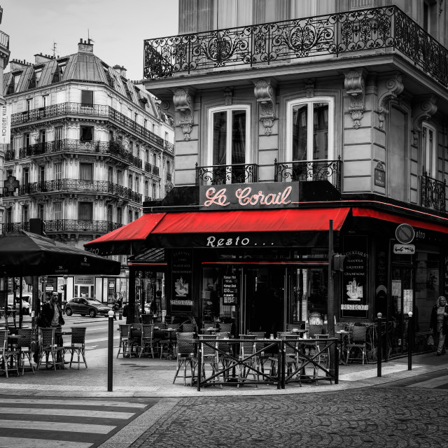 """Montmartre Cafe"" stock image"
