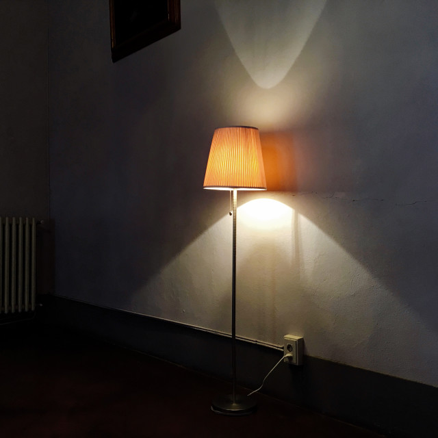 """The light and the empty room"" stock image"