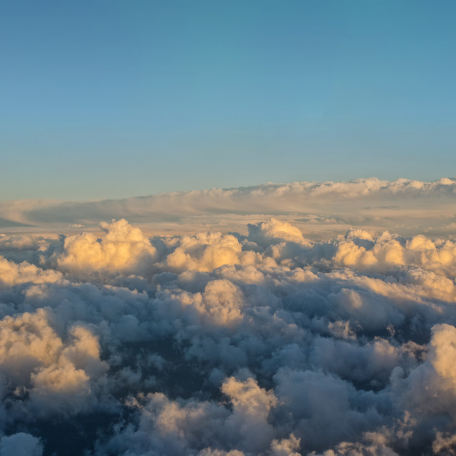 """""""Space Above The Clouds"""" stock image"""