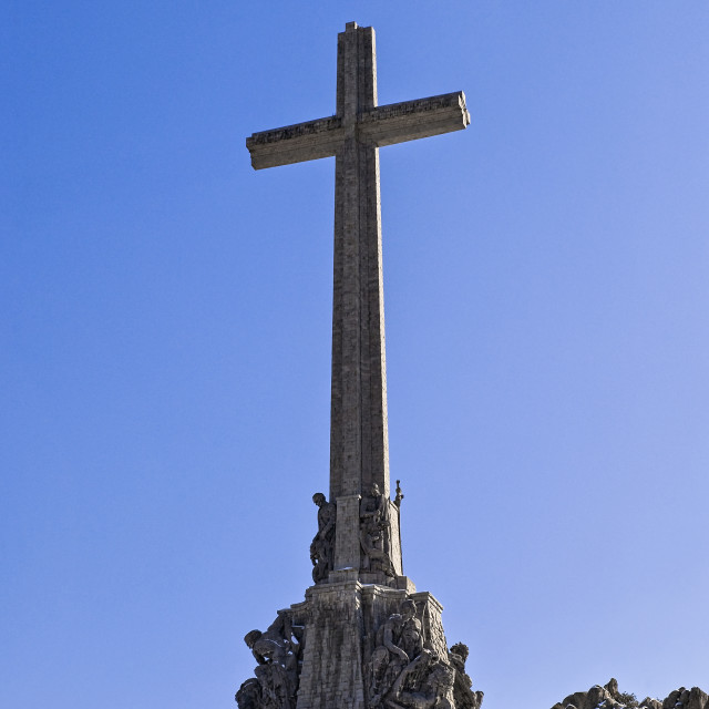 """""""Valle de los Caidos, Guadarrama, Spain"""" stock image"""