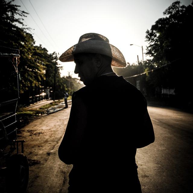 """""""Sunset Cowboy"""" stock image"""