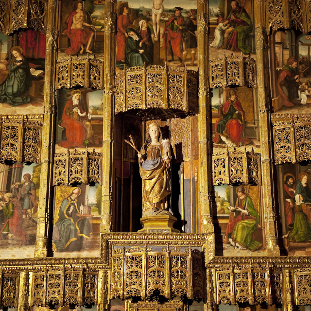 """""""Alter located within the Alcazar of Segovia, Spain"""" stock image"""