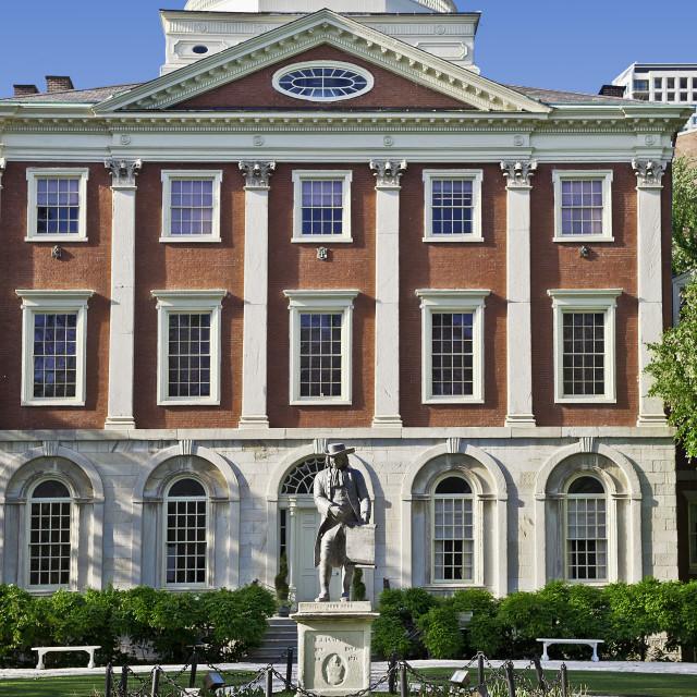 """Pennsylvania Hospital, ""Pennsy"", is a hospital Philadelphia, Pennsylvania, USA. Circa 1756"" stock image"