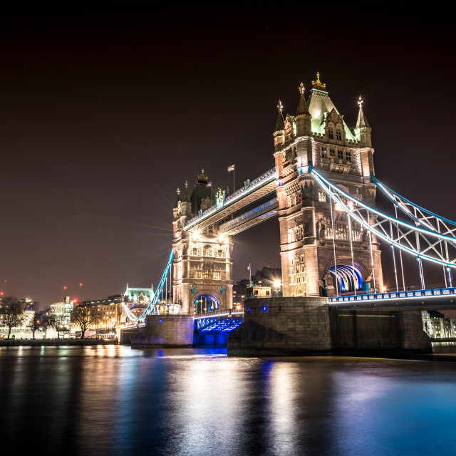 """Tower Bridge Night"" stock image"