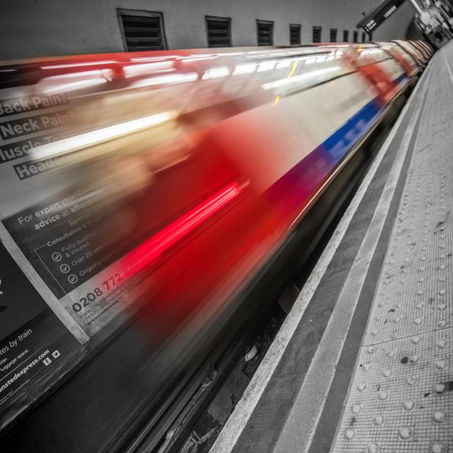 """London Tube Blur"" stock image"