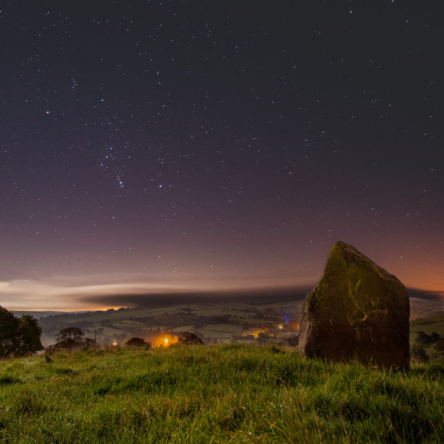 """Orion over the Murder Stone"" stock image"