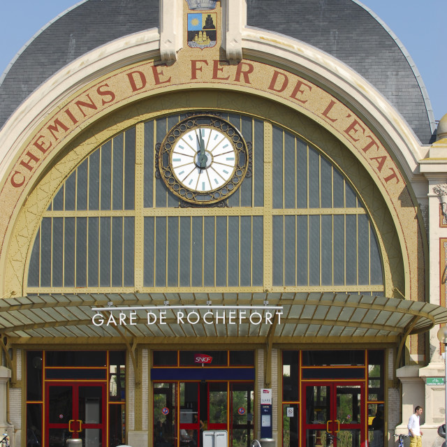"""Train Station in Rochefort, Charente Maritime, France"" stock image"