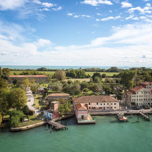"""Views as you cruise into Venice"" stock image"