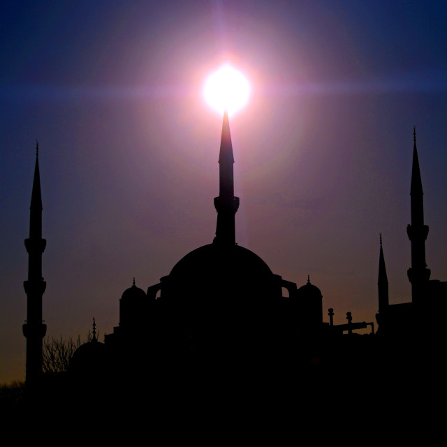 """""""Blue Mosque at Sunset"""" stock image"""