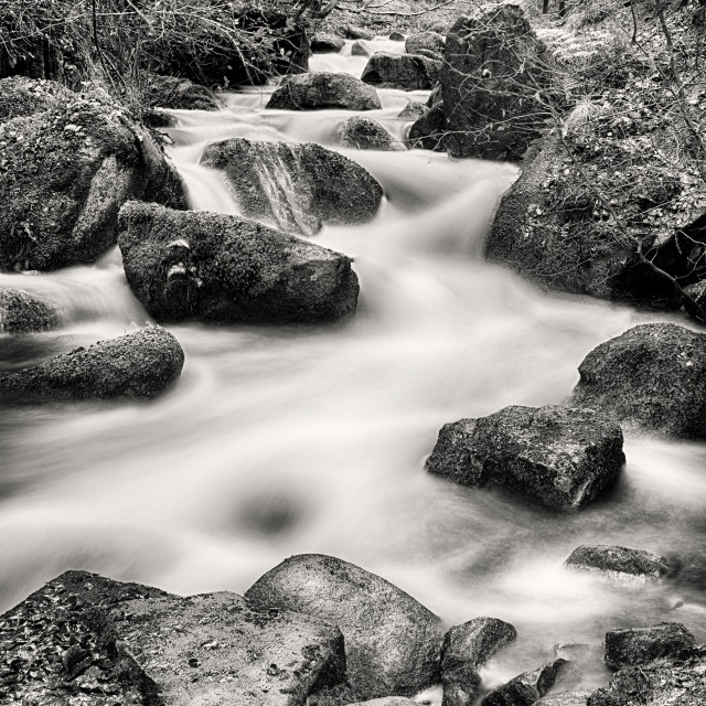 """Wyming Brook waterfall"" stock image"