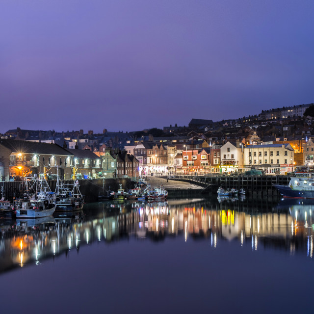 """Scarborough docks"" stock image"