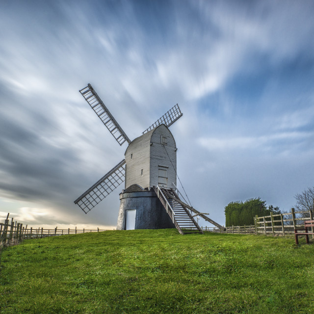"""Wrawby Windmill"" stock image"