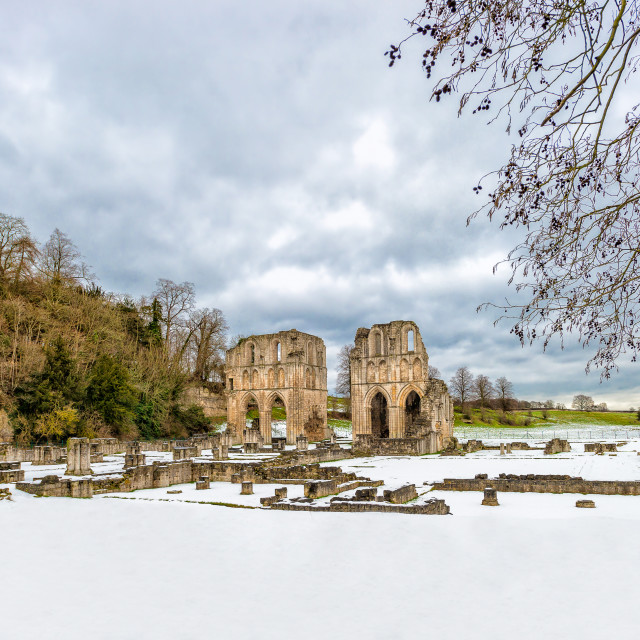 """Roche Abbey"" stock image"