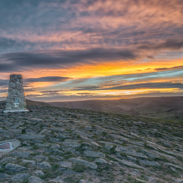 """mam tor sunset"" stock image"
