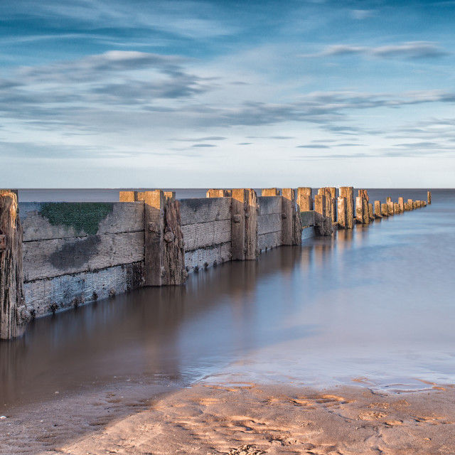 """Cleethorpes sea defence"" stock image"
