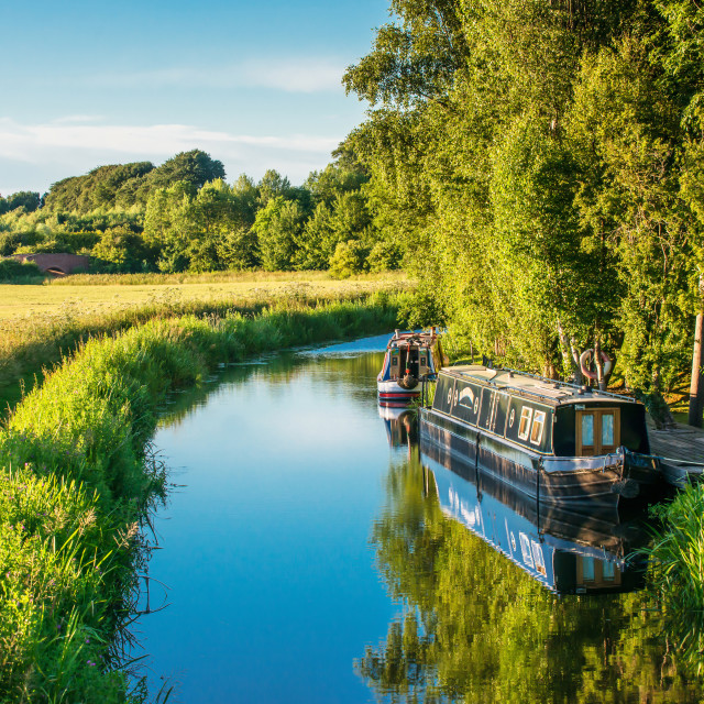 """Narrow boats"" stock image"