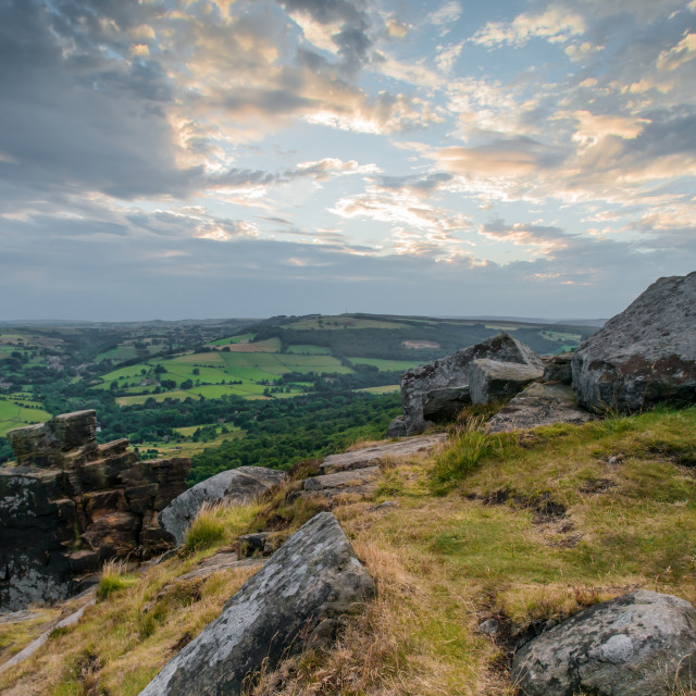 """curbar edge peak district"" stock image"