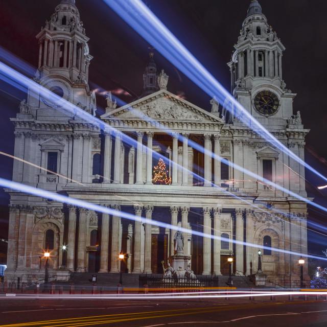 """Light Trails Of St. Paul's"" stock image"
