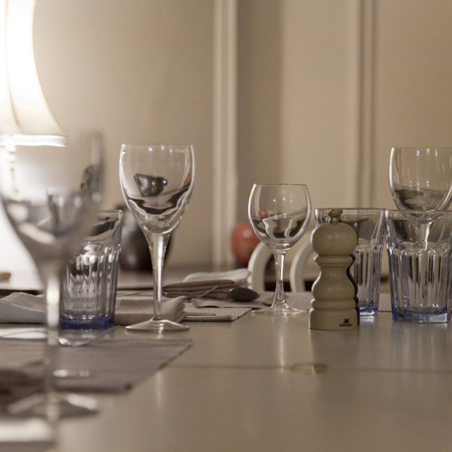 """Dining table set"" stock image"