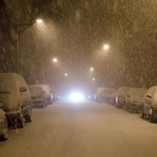 """""""Heavy snow"""" stock image"""