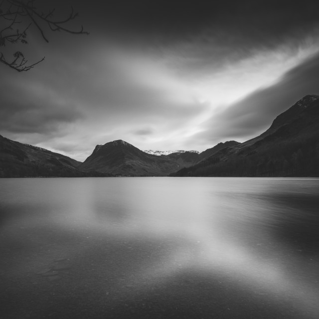 """Buttermere with Fleetwith Pike"" stock image"