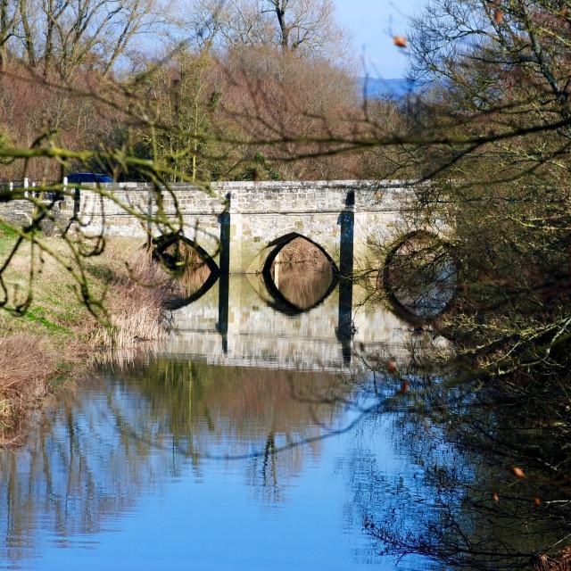 """Bridge over the River Stour"" stock image"