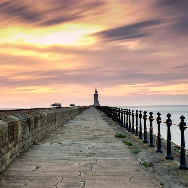 """""""Tynemouth Pier"""" stock image"""