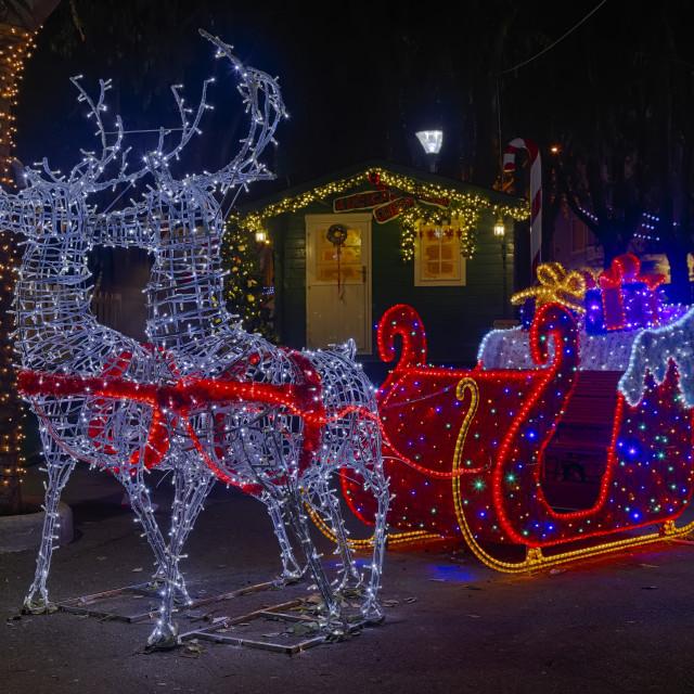 """Santa Claus sleigh"" stock image"