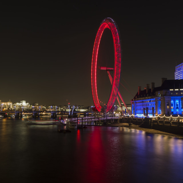 """""""London By Night"""" stock image"""