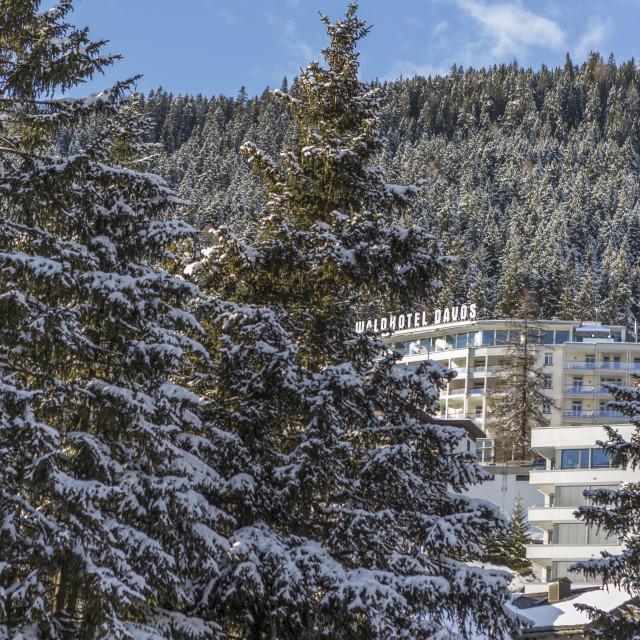 """""""Waldhotel Davos."""" stock image"""