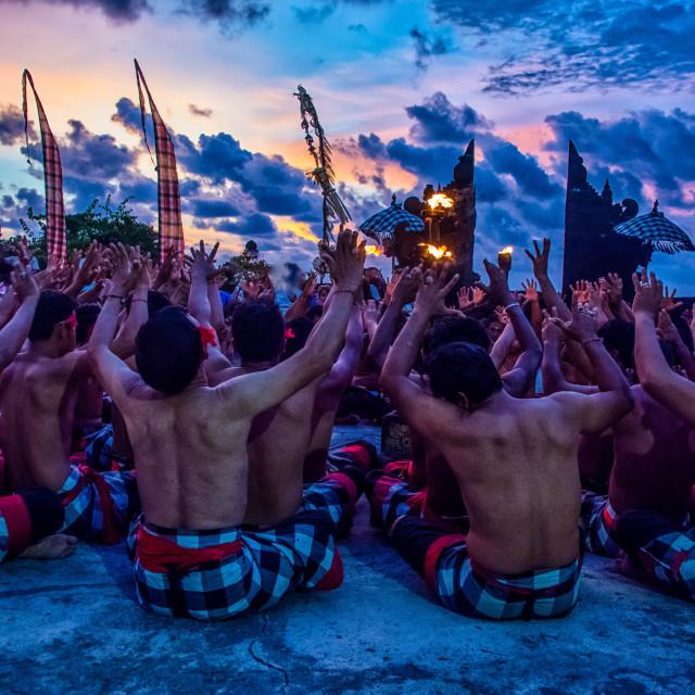"""Kecak Dance Bali Indonesia"" stock image"