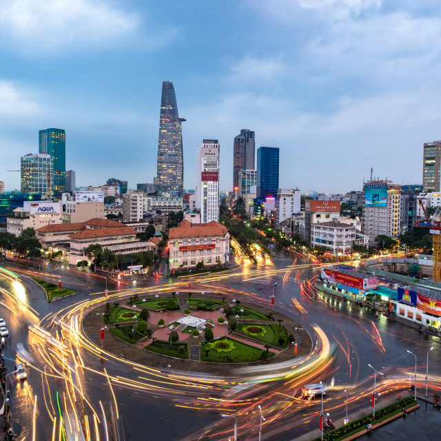 """Rush hour traffic at Ho Chi Minh city, Viet Nam"" stock image"