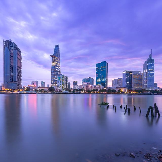 """Sai Gon river, Ho Chi Minh city, Viet Nam"" stock image"