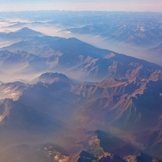 """""""Enigmatic Mountains"""" stock image"""