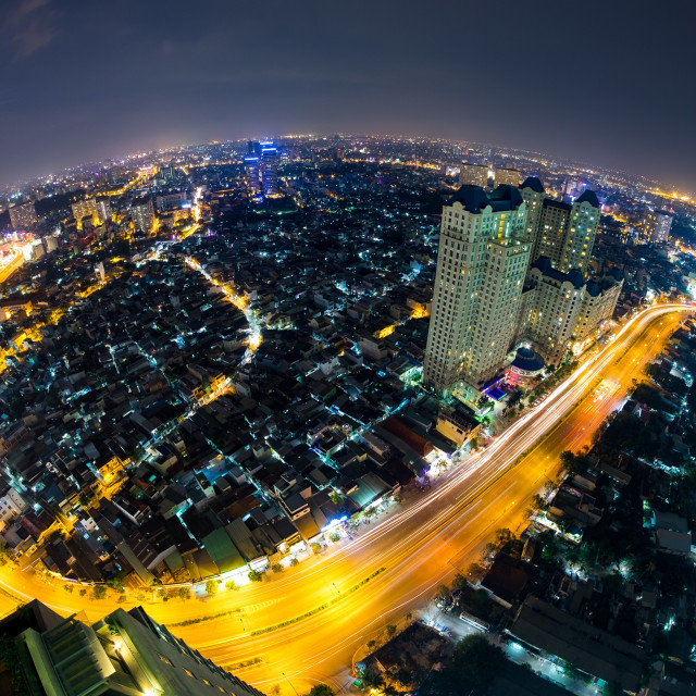 """City night, Ho Chi Minh city, Viet Nam"" stock image"