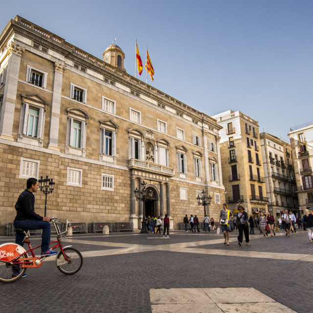 """Sant Jaume Square"" stock image"