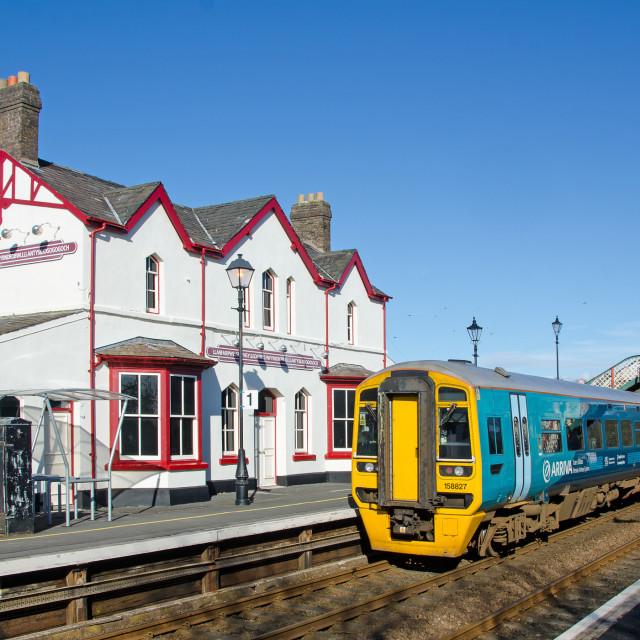"""""""Llanfairpwllgwyngyllgogerychwyrndrobwillantysiliogogogoch Station"""" stock image"""