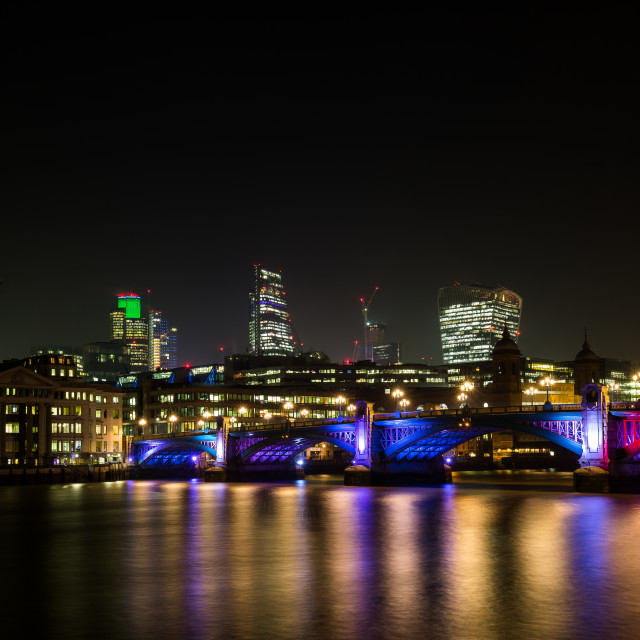 """Southwark Bridge"" stock image"