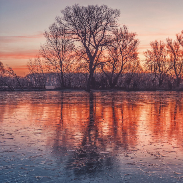 """Frozen morning colors vol.1"" stock image"