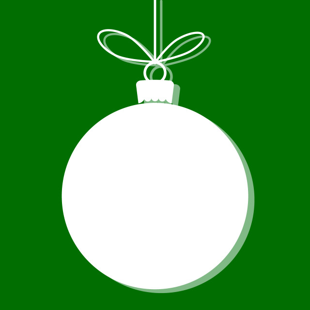 """Christmas bauble white tag. Vector illustration"" stock image"
