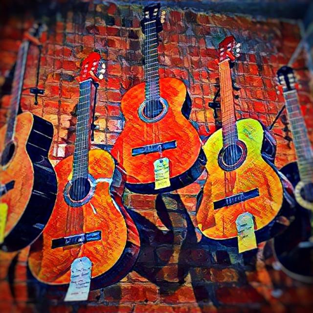"""Classic Guitar sale"" stock image"