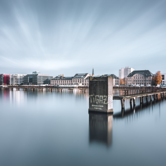 """Skyline of East-Berlin"" stock image"